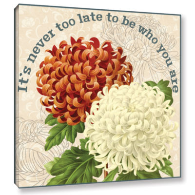 Brushstone Mums The Word D Square Gallery WrappedCanvas Wall Art