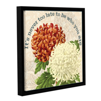 Brushstone Mums The Word D Square Gallery WrappedFloater-Framed Canvas Wall Art