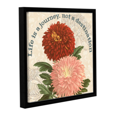 Brushstone Mums The Word Square 1 Gallery WrappedFloater-Framed Canvas Wall Art