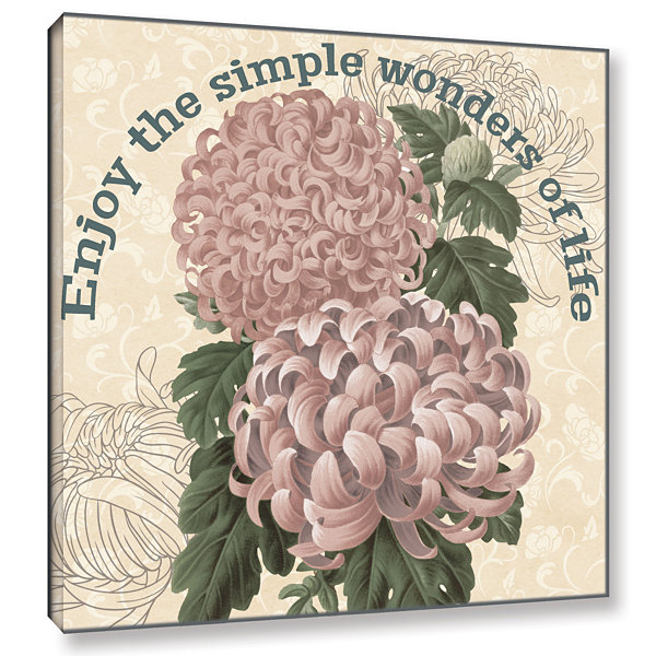 Brushstone Mums The Word Square 3 Gallery WrappedCanvas Wall Art