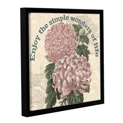 Brushstone Mums The Word Square 3 Gallery WrappedFloater-Framed Canvas Wall Art