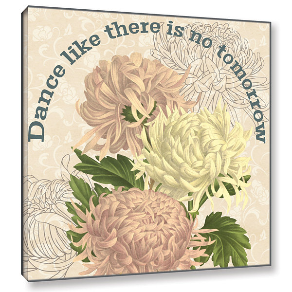 Brushstone Mums The Word Square 4 Gallery WrappedCanvas Wall Art