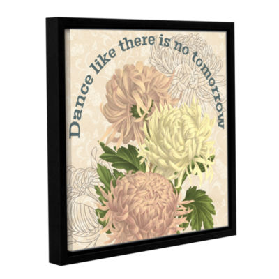 Brushstone Mums The Word Square 4 Gallery WrappedFloater-Framed Canvas Wall Art