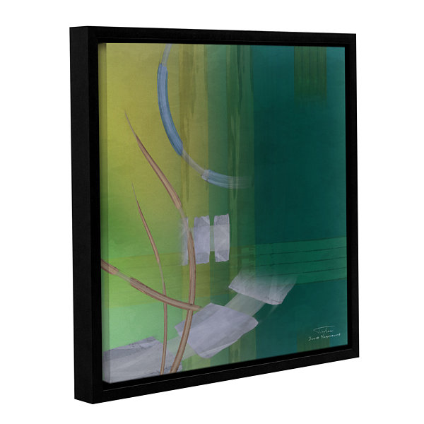 Brushstone Abstract 03 I Gallery Wrapped Floater-Framed Canvas Wall Art