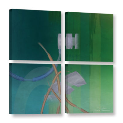Brushstone Abstract 03 II 4-pc. Square Gallery Wrapped Canvas Wall Art