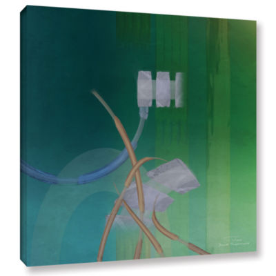 Brushstone Abstract 03 II Gallery Wrapped Canvas Wall Art