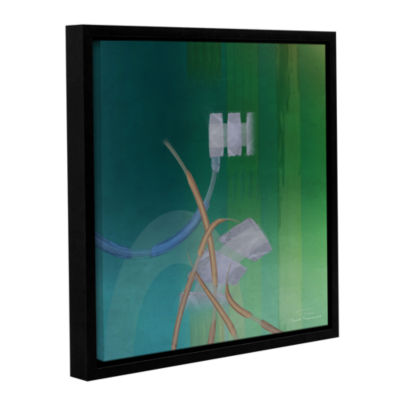 Brushstone Abstract 03 II Gallery Wrapped Floater-Framed Canvas Wall Art