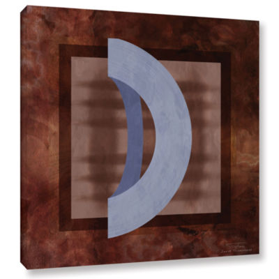 Brushstone Abstract Mono 01 II Gallery Wrapped Canvas Wall Art