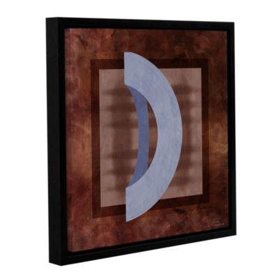 Brushstone Abstract Mono 01 II Gallery Wrapped Floater-Framed Canvas Wall Art