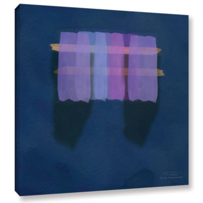 Brushstone Abstract Soft Blocks 01 I Gallery Wrapped Canvas Wall Art