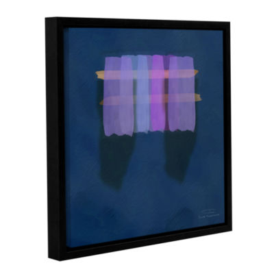 Brushstone Abstract Soft Blocks 01 I Gallery Wrapped Floater-Framed Canvas Wall Art