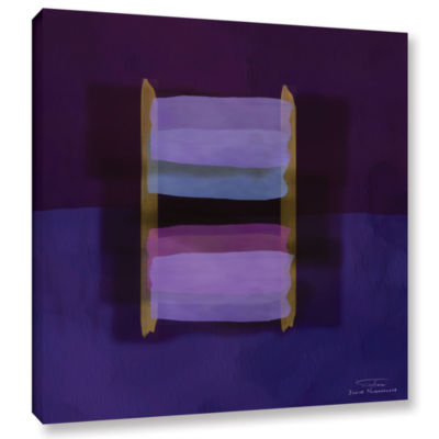 Brushstone Abstract Soft Blocks 02 II Gallery Wrapped Canvas Wall Art