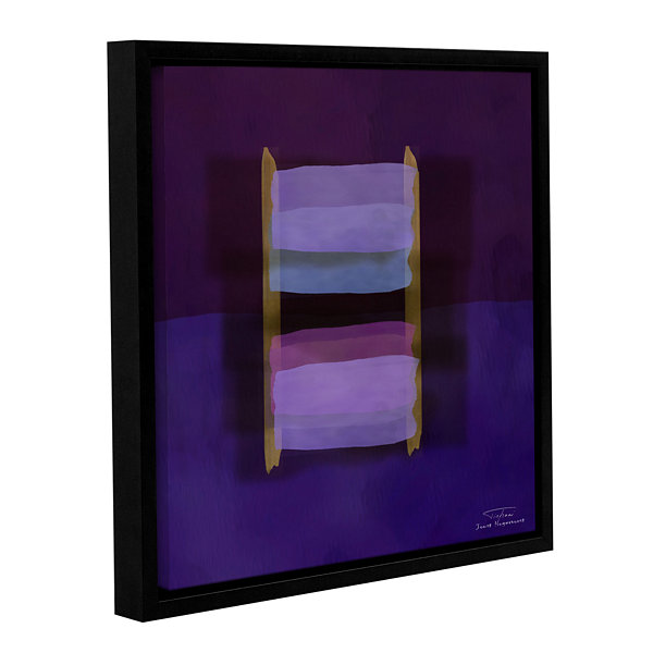 Brushstone Abstract Soft Blocks 02 II Gallery Wrapped Floater-Framed Canvas Wall Art