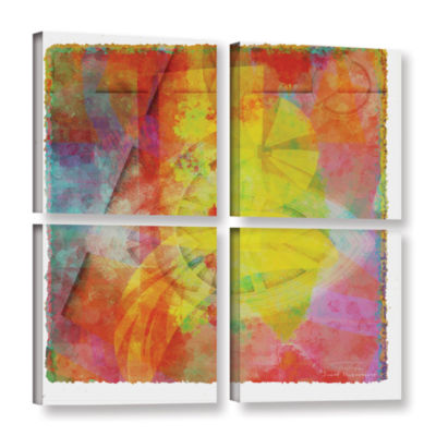 Brushstone Abstract Soft Smooth 2 4-pc. Square Gallery Wrapped Canvas Wall Art