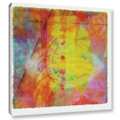 Brushstone Abstract Soft Smooth 2 Gallery Wrapped Canvas Wall Art