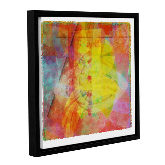 Brushstone Abstract Soft Smooth 2 Gallery Wrapped Floater-Framed Canvas Wall Art