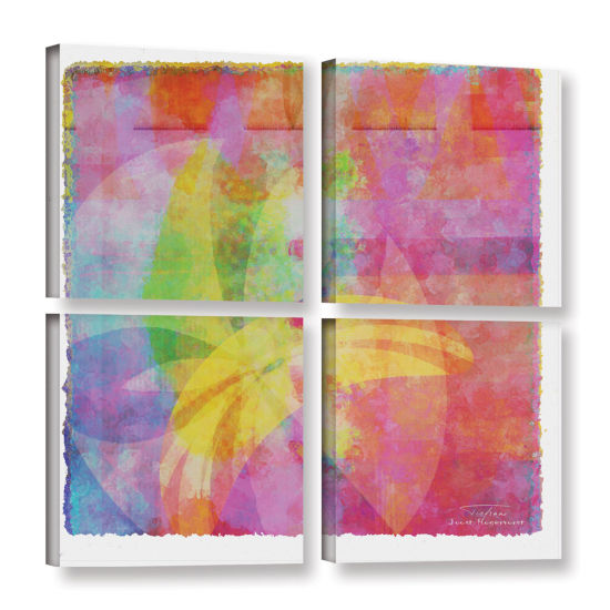 Brushstone Abstract Soft Smooth 3 4-pc. Square Gallery Wrapped Canvas Wall Art