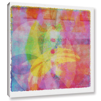 Brushstone Abstract Soft Smooth 3 Gallery WrappedCanvas Wall Art
