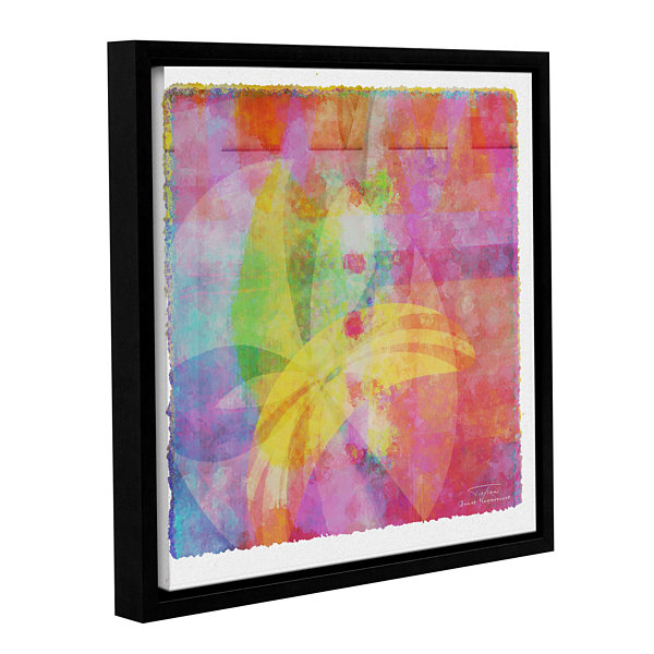 Brushstone Abstract Soft Smooth 3 Gallery WrappedFloater-Framed Canvas Wall Art