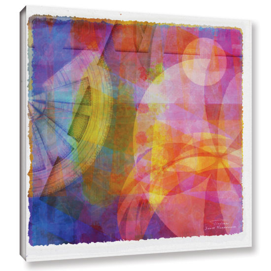Brushstone Abstract Soft Smooth 4 Gallery Wrapped Canvas Wall Art