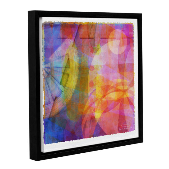 Brushstone Abstract Soft Smooth 4 Gallery Wrapped Floater-Framed Canvas Wall Art