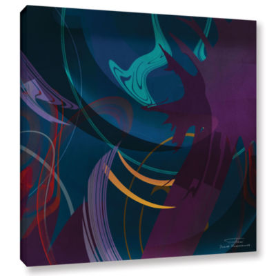 Brushstone Abstract Twirl 01 Gallery Wrapped Canvas Wall Art