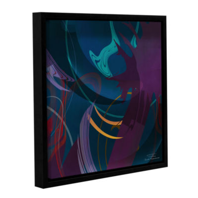 Brushstone Abstract Twirl 01 Gallery Wrapped Floater-Framed Canvas Wall Art