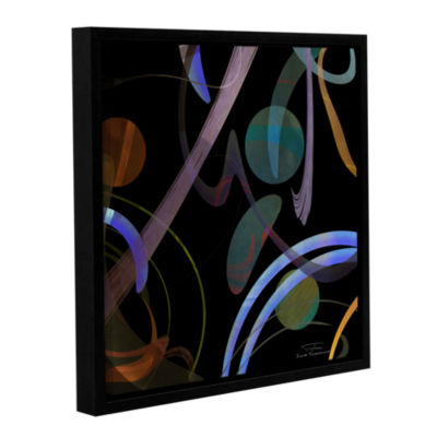 Brushstone Abstract Twirl 02 Gallery Wrapped Floater-Framed Canvas Wall Art