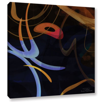 Brushstone Abstract Twirl 03 Gallery Wrapped Canvas Wall Art