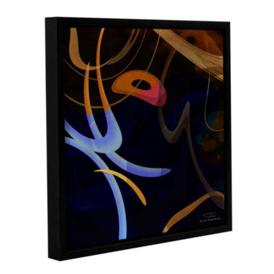 Brushstone Abstract Twirl 03 Gallery Wrapped Floater-Framed Canvas Wall Art