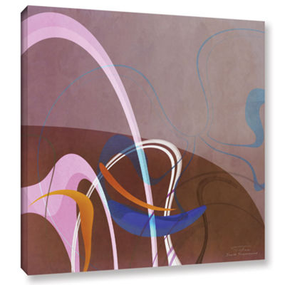Brushstone Abstract Twirl 06 Gallery Wrapped Canvas Wall Art