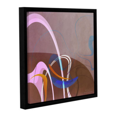 Brushstone Abstract Twirl 06 Gallery Wrapped Floater-Framed Canvas Wall Art