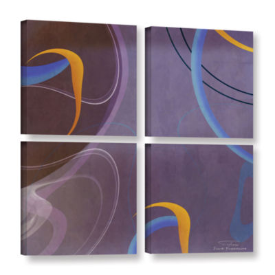 Brushstone Abstract Twirl 07 4-pc. Square GalleryWrapped Canvas Wall Art