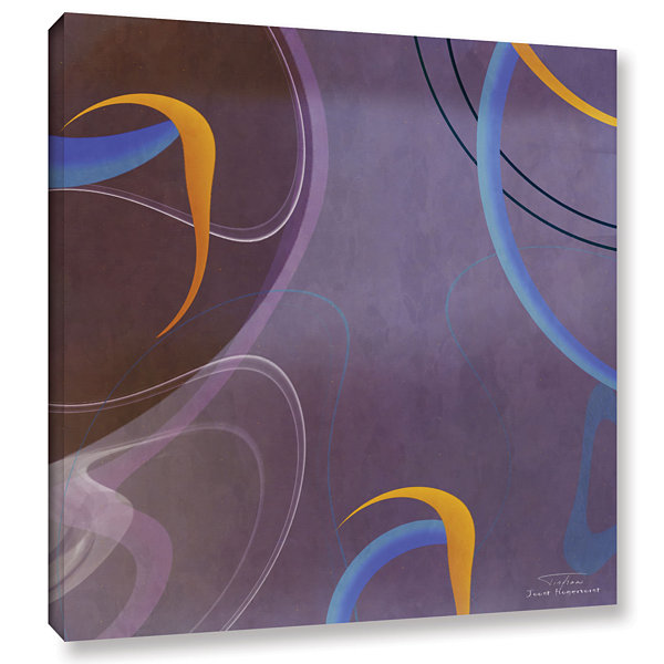 Brushstone Abstract Twirl 07 Gallery Wrapped Canvas Wall Art