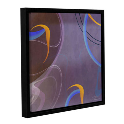 Brushstone Abstract Twirl 07 Gallery Wrapped Floater-Framed Canvas Wall Art