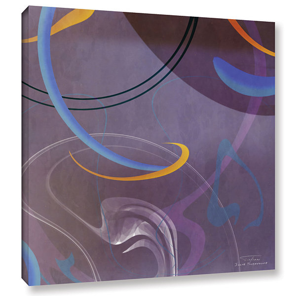 Brushstone Abstract Twirl 07 II Gallery Wrapped Canvas Wall Art