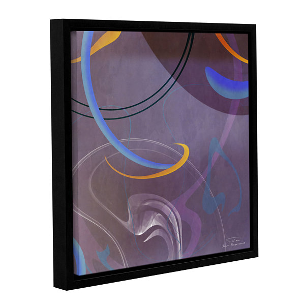 Brushstone Abstract Twirl 07 II Gallery Wrapped Floater-Framed Canvas Wall Art