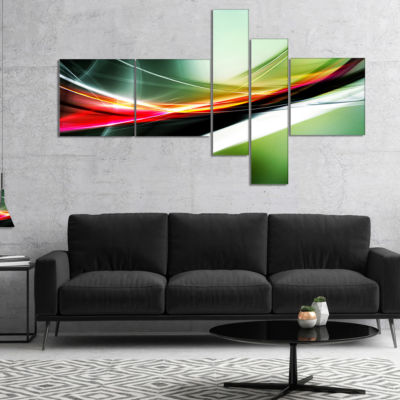 Designart Elegant Color Pattern Multipanel Abstract Canvas Art Print - 5 Panels