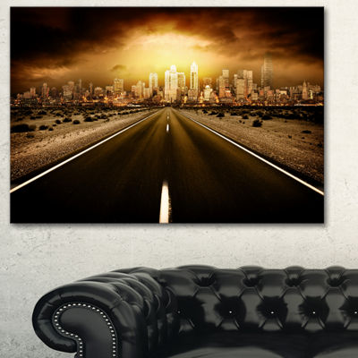Designart World S End Landscape Photography CanvasArt Print - 3 Panels