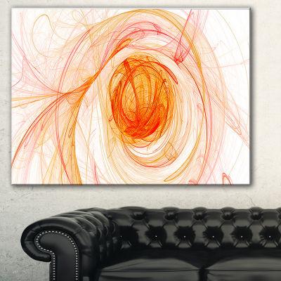 Designart Yellow Ball Of Yarn Abstract Canvas ArtPrint - 3 Panels