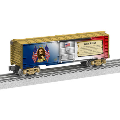 Lionel Trains James K. Polk Presidential Series Boxcar