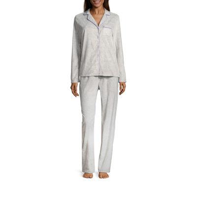 Adonna Microfleece Notch Collar Pajama Set- Talls