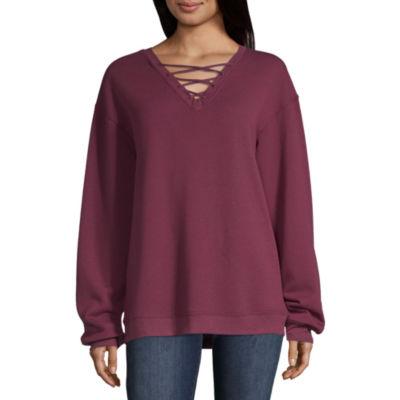 Hybrid Tees Lace Up Sweatshirt - Juniors