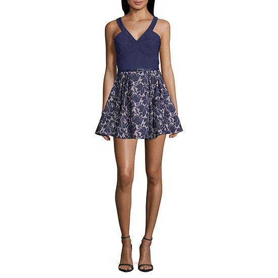 Crystal Sky Sleeveless Party Dress-Juniors