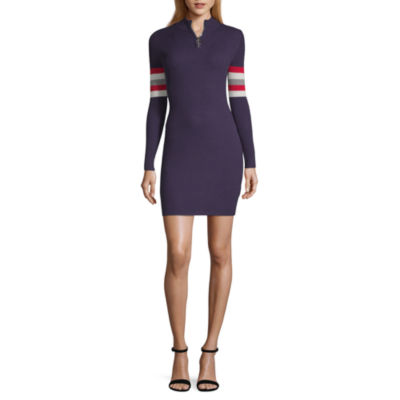 Derek Heart Long Sleeve Sweater Dress-Juniors