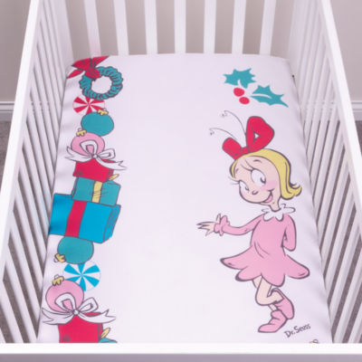 Trend Lab Cindy Lou Who Flannel  Fitted Crib Sheet