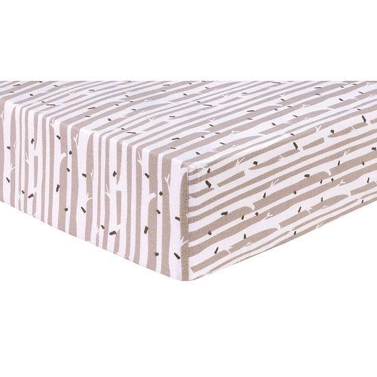 Trend Lab Birch Stripe  Flannel Fitted Crib Sheet Crib Sheet