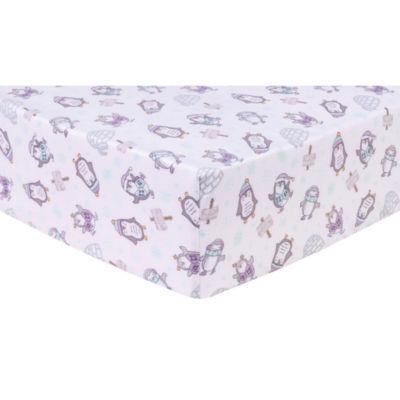 Trend Lab Happy Penguins Flannel Crib Sheet