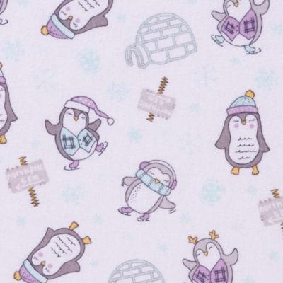Trend Lab Happy Penguins  Flannel Crib Sheet Crib Sheet
