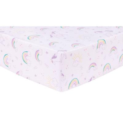 Trend Lab Unicorn Rainbow  Flannel Crib Sheet Crib Sheet